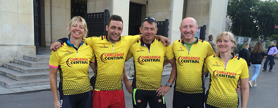 London to Paris Cycle Group Photo