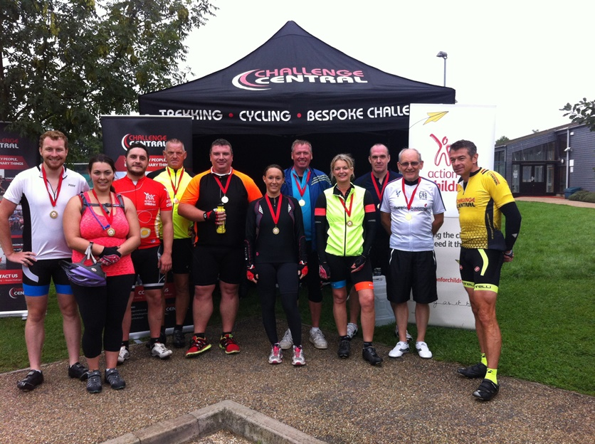 Charity Medal Ceremony Post Cycle