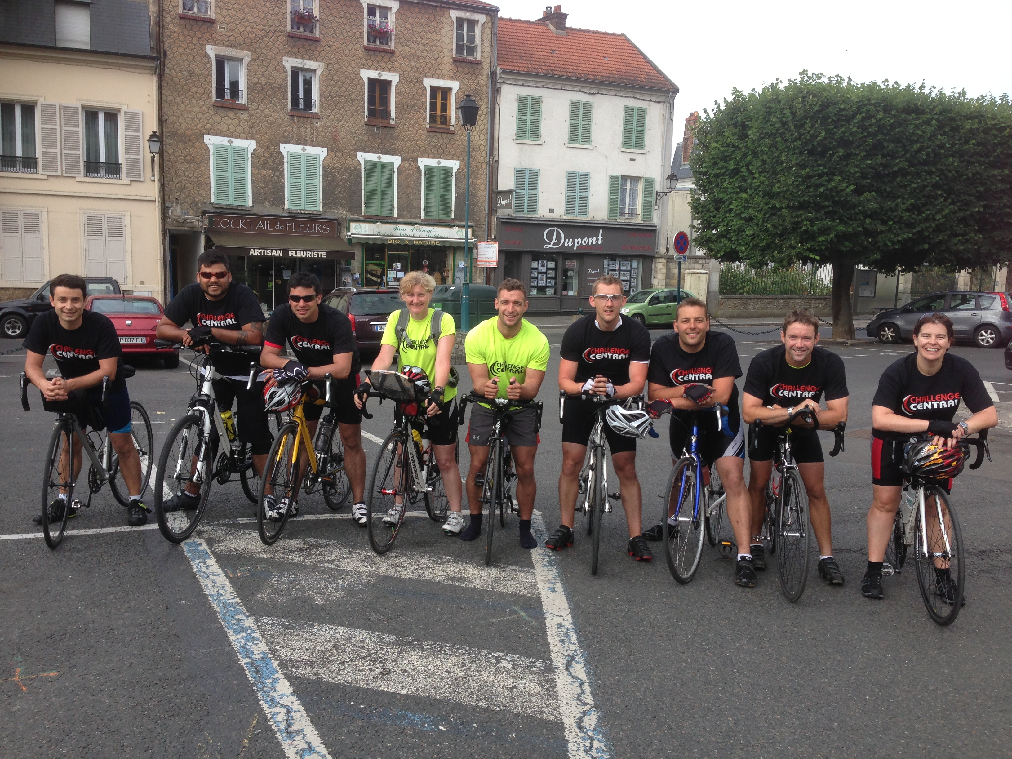 Participants on Cycle Tour