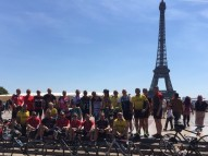 Group of challengers outside eiffel tower