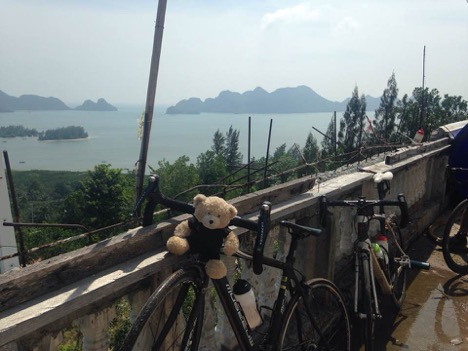 View from cycling tour in Thailand